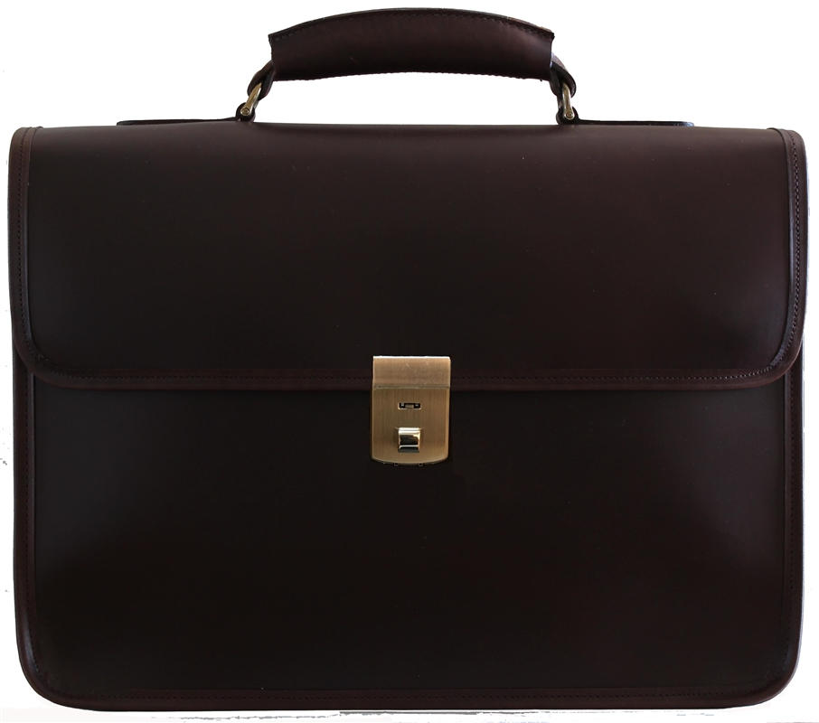 Counselor Leather Briefcase Made In Usa Customhide Com